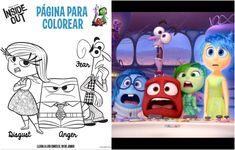 Divierte en casa a tu hijo con estas 6 hojas con figuras para colorear de la nueva película de Disney Pixar Inside Out o InmensaMente. ¡Imprímelas gratis!