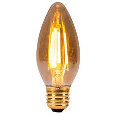Style from the past, efficiency from the future: Bell Lighting's Vintage 4W Warm White Non-Dimmable E27 Amber LED Candle Bulb