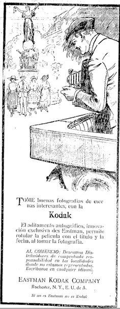 1921 - Anuncio de cámaras Kodak - Anuncio publicado en el Informador Guadalajara, Jalisco México