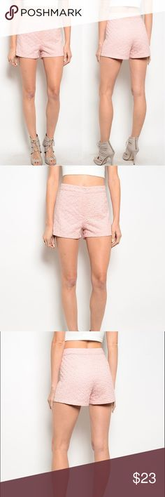 Coming Soon  Blush Shorts Price firm. Great for every occasion.  Measurements coming soon. S, M, L available.  100% Polyester    Look closely at the photos to know what exactly you are receiving and the condition that it's in!  Smoke/Pet free home. Bundle 2+ of my items to save 15%.  I do not trade or hold items.  Check out my websites on my profile! Boutique Shorts