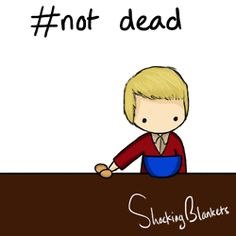 "I love how he just slid up and was like ""WHISK, JAWN?"" Funny #notdead Sherlock .gif. Love Shocking Blankets' artwork!!!"