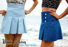 "pattern #1006- the ""Rita"" Pleated Shorts"