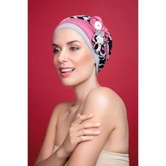 Set of Cotton Chemo Hat and 2 matching HeadBands for Cancer cf71d38b80b5