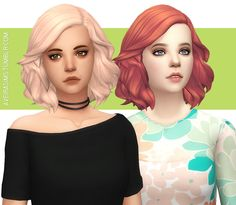 Kiara's Medium Soft Wavy Hair - Recolor **Updated 21.06.2017** New color palette and filenames. Please remove the old files if you redownload them! • 65 Colors • Standalone & Custom Thumbnail • Color...