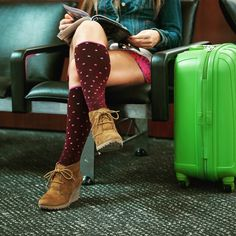 Loving these Sockwell polka dot compression socks! They are perfect to wear while traveling, especially on a plane. Wear them to keep your legs energized and feeling great the whole trip. Get yours today at www.brightlifego.com