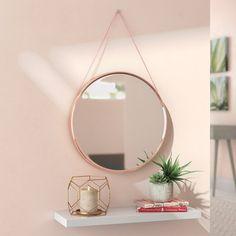 Mirror With Glass Shelves Mirror With Shelf, Round Wall Mirror, Round Mirrors, Floor Mirrors, Sunburst Mirror, Rose Gold Mirror, Rose Gold Wall Decor, Gold Circle Mirror, Circular Mirror