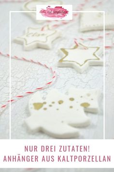 Cold porcelain from three ingredients - little. Cold porcelain pendants are quickly made. Handmade Christmas Decorations, Diy Christmas Ornaments, Xmas, Diy Craft Projects, Diy And Crafts, Crafts For Kids, Easy Diy Gifts, Diy Presents, Clay Ornaments