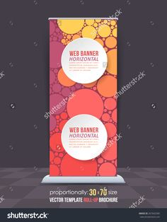 Abstract Theme Business Roll-Up Banner Design, Advertising Vector Template - 267602585 : Shutterstock