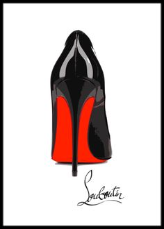 Framed Pigalle Louboutin print Megan Hess, Fashion Wall Art, Arte Pop, Shoe Art, Retro Aesthetic, Cute Wallpapers, Chanel Wallpapers, Gold Fashion, Fashion Quotes