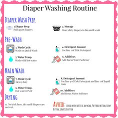 Cloth diaper wash routine printable and my tips for figuring out your cloth diaper wash routine!