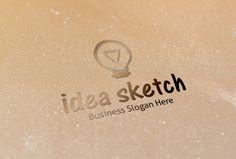 Check out Idea Sketch Logo by BDThemes Ltd on Creative Market