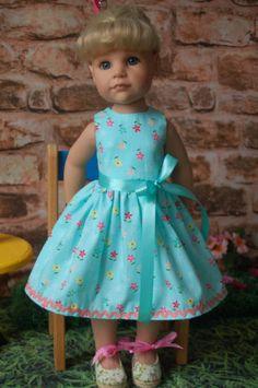 Puppenkleidung-Kleid-Sommerkleid-Handarbeit-46-50-cm-Stehpuppe