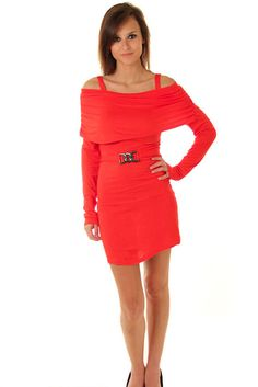 DHStyles Women's Red Stylish Off Shoulder Long Sleeve Dress with Belt - Small #sexytops #clubclothes #sexydresses #fashionablesexydress #sexyshirts #sexyclothes #cocktaildresses #clubwear #cheapsexydresses #clubdresses #cheaptops #partytops #partydress #haltertops #cocktaildresses #partydresses #minidress #nightclubclothes #hotfashion #juniorsclothing #cocktaildress #glamclothing #sexytop #womensclothes #clubbingclothes #juniorsclothes #juniorclothes #trendyclothing #minidresses…