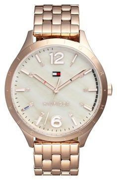 Women's Tommy Hilfiger Mother-of-Pearl Dial Bracelet Watch