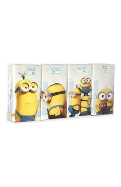 4 paquets de mouchoirs Minions