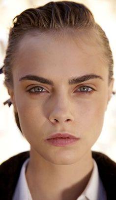 face, model, cat eye, strong eyebrows, cara delevigne eyebrows, red lips, cara delevingne, caradelevingn, strong brow