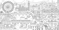 Cool coloring books for adults: Coloring a Stroll in London by Thomas Flintham