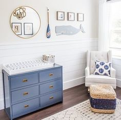 Nautical Children's Rooms and the Nautical Decor to Match - Project Nursery Nautical Nursery by Wend Boys Nautical Bedroom, Nautical Baby Nursery, Coastal Nursery, Boy Nursery Themes, Bedroom Themes, Nursery Room, Ocean Nursery, Nursery Modern, Bedroom Kids