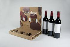 Expositor para 3 botellas de vino