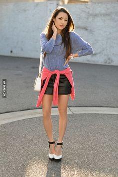 Jessica Ricks, fashion blogger. Half Japanese/Half British.