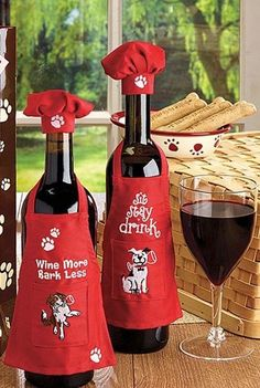 PET PARTY Wine Dress Bottle Apron Christmas Wine Decor Wine Gift Giving Idea | Home & Garden, Holiday & Seasonal Décor, Christmas & Winter | eBay!