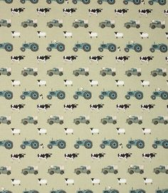 Save on our Green On the Farm Contemporary Fabric from Sophie Allport. This Regular fabric is perfect for Curtains & Blinds. Country Interior, Country Decor, Country Living, Tractor Room, English Cottage Style, Kitchen Blinds, Contemporary Fabric, Farm Theme, Curtains With Blinds
