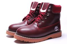 Burgundy Timberland 6 Inch Womens Snow Boots