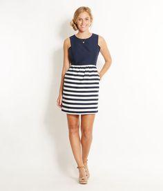 Possible bridesmaid dress Shop Dresses: Knollwood Stripe Dress for Women | Vineyard Vines