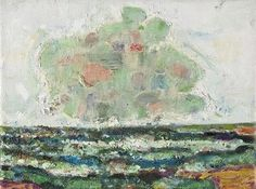 Bernard Chaet, Green Cloud, 2005-06, oil on canvas, 9 in x 12 inches