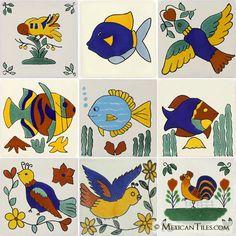 Mexican Tile   - Themed Talavera Tile Set - x4002