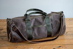 Waxed Canvas Duffel Duffle Bag Handmade Weekender