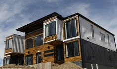 A Denver couple turned nine shipping containers into a 4,000 square foot house with seven bedrooms and five bathrooms