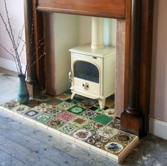 Wood Burner, Fireplace Tiles