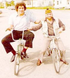 Andre the Giant on a bike.