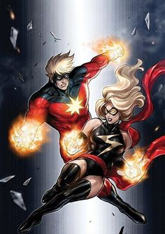 Captain and Ms. Marvel...