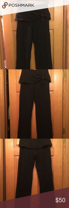 Stella McCartney x Adidas black pants size 34 / S Super comfortable and unique. Short skirt over the flared sweat style pant. Ruching in front of skirt that is adjustable. Not too long- flattering and covers hips a bit. Size 34 = small Adidas by Stella McCartney Pants Track Pants & Joggers