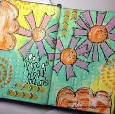 Lonely Cards : Do more of what you love. #decoartprojects #americana #acrylics #artjournal