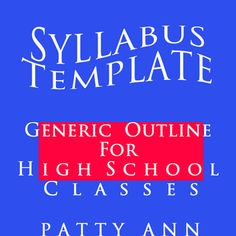 This is a generic high school syllabus template that can be used for any course. Included in this highly customizable template is Course Information, Description, Assessments, Grading Criteria, Instructor Information, Late Assignment policies, Classroom Etiquette, AND a Parent - Student - Teacher Agreement Letter. The template is presented in Word so editing is easy. Just replace all the red text type with your information and your syllabus is ready to go!