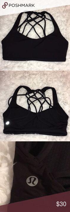 Lululemon Sports Bra Lululemon Sports Bra. All black. Padding included. lululemon athletica Intimates & Sleepwear Bras