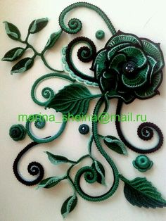 Irish crochet flower                                                                                                                                                                                 More