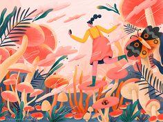 Hallucinogenic mushroom # illustrations-About the dream of time mushroom paint vector time dream design illustrations and posters Art And Illustration, Illustration Design Graphique, Illustrations And Posters, Design Illustrations, Design Poster, Art Design, Logo Design, Paint Vector, Vector Art