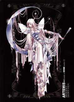 Females Saint Seiya Masami Kurumada Future Studio Saint Seiya Future Studio Artemis Goddess of the Moon