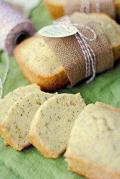 Zucchini Lemon bread. The recipe is very good but sweet. I cut to 1/2 the sugar- Delicious!