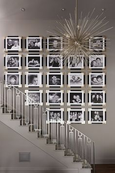 Those stairs... That gallery wall... Interiors by Stacey Cohen