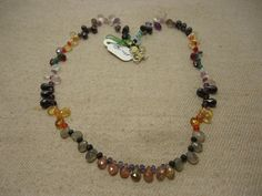 """Natural Multi Stone Multi Shape Faceted 17"""" Beads Fancy Necklace, 120 Cts…"""