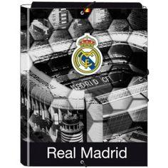 Carpeta Real Madrid con gomas Carpeta con la imagen del Santiago Bernabéu  Tres solapas fijadas con 17bbdd01afc3d