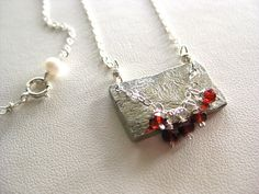 Repin to win this beautiful sterling silver garnet necklace at www.thefunky-monkey.com.  #giveaway #etsy