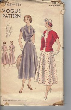 Vintage 1950's Women's Dress and Jacket by AtomicRegeneration, $17.61