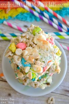 Lucky Charms Magic Bars