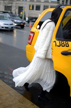 glamorous cab ride